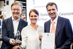 (v.l.n.r.) Ferdinand Wieser / Geschäftsführer BMD, Romana Hausleitner / Leitung HR, Dr. Markus Knasmüller / Leiter Software-Entwicklung. © Ludwig